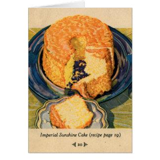 Torta retra de la sol del arte de las tortas del k tarjetón
