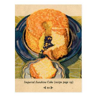 Torta retra de la sol del arte de las tortas del k postal
