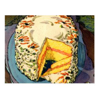 Torta retra del Dos-Huevo del arte de la torta del Tarjeta Postal