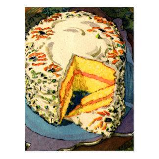 Torta retra del Dos-Huevo del arte de la torta del Tarjetas Postales