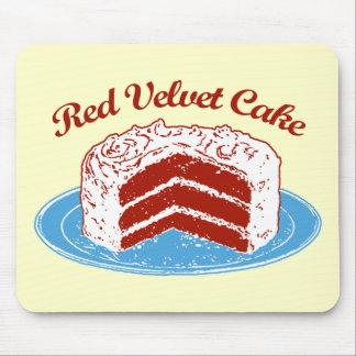 Torta roja del terciopelo alfombrillas de raton
