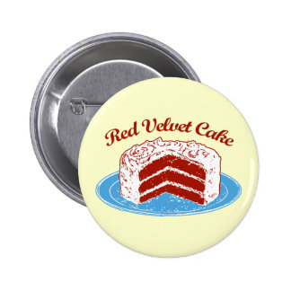 Torta roja del terciopelo pin redondo de 2 pulgadas