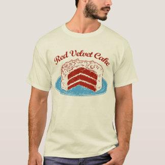 Torta roja del terciopelo playera