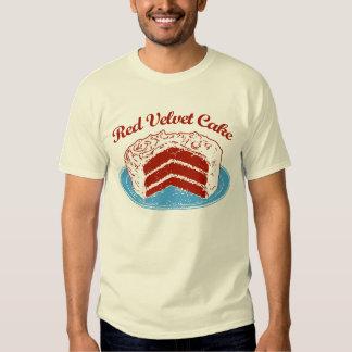 Torta roja del terciopelo remeras