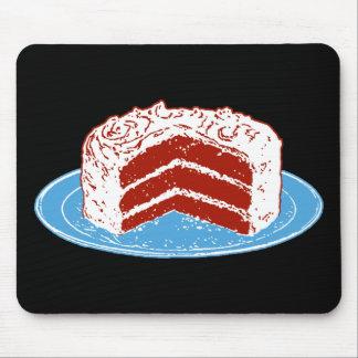 Torta roja del terciopelo alfombrillas de ratones