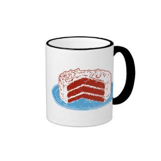 Torta roja del terciopelo taza de dos colores