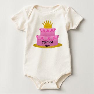 Torta rosada con cumpleaños de la corona mamelucos
