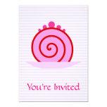 Torta rosada de la frambuesa invitación 12,7 x 17,8 cm