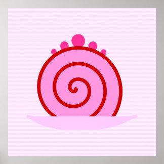 Torta rosada de la frambuesa impresiones