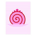 Torta rosada de la frambuesa postal