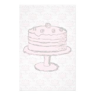 Torta rosada en modelo rosado de la torta flyer a todo color