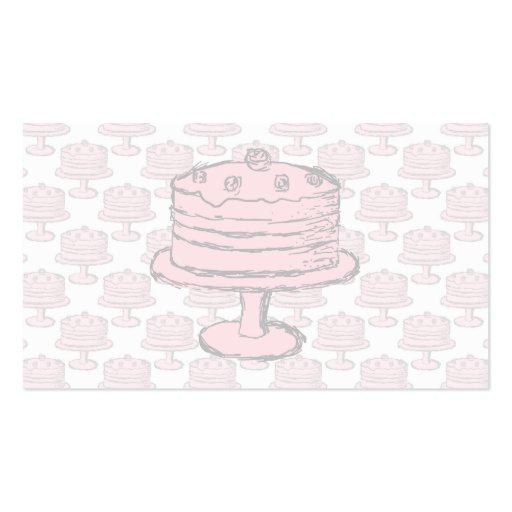 Torta rosada en modelo rosado de la torta tarjetas de visita