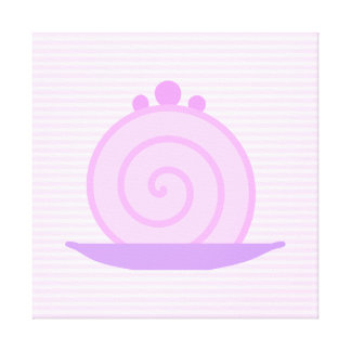 Torta rosada espiral en rayas rosadas impresión en lona