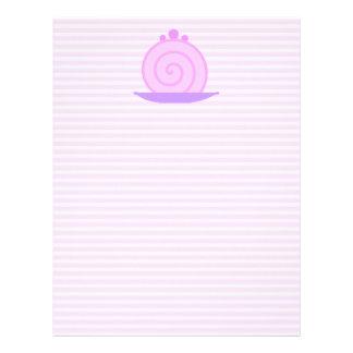 Torta rosada espiral en rayas rosadas membrete personalizado