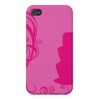 Torta rosada iPhone 4 carcasas