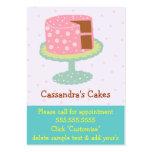 Torta-Rosado y verde Tarjeta De Visita