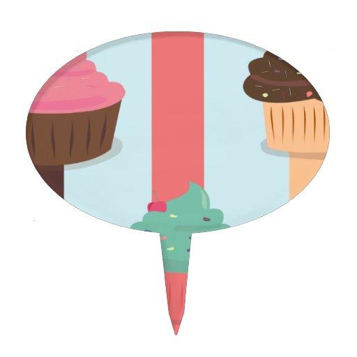 Torta triple de la taza palillos de tarta