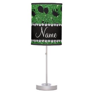 Torta verde conocida de los globos de las coronas lámpara de escritorio
