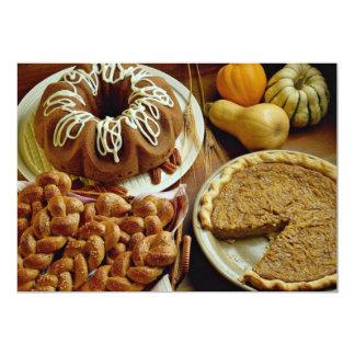 Torta y empanada de Halloween Invitación Personalizada