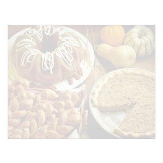 Torta y empanada de Halloween Membrete