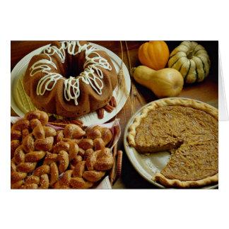 Torta y empanada de Halloween Tarjetas