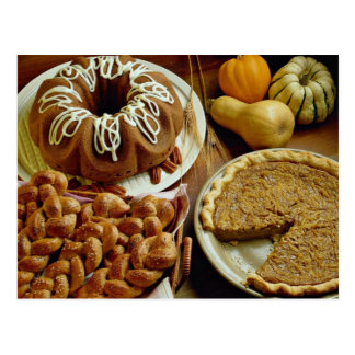 Torta y empanada de Halloween Tarjetas Postales