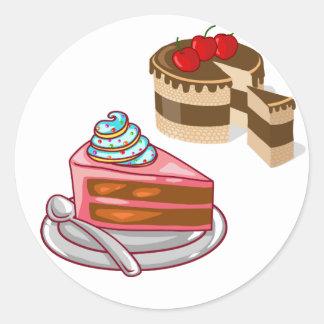 torta y empanada pegatina redonda