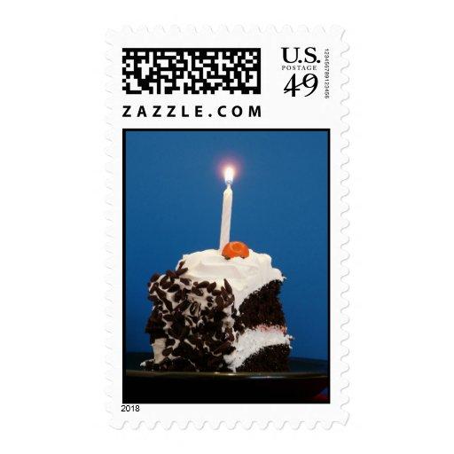 Torta y vela sellos