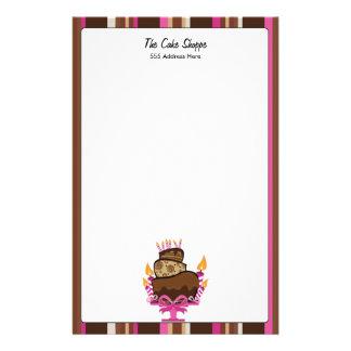 Torta y velas de chocolate inmóviles papeleria personalizada