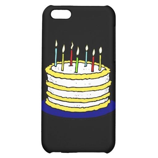 Torta y velas de cumpleaños