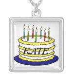 Torta y velas de cumpleaños colgantes personalizados