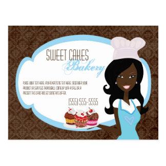 Tortas afroamericanas de la taza del panadero de l postal