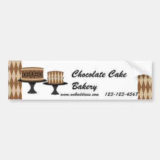 Tortas de chocolate decadentes pegatina para auto