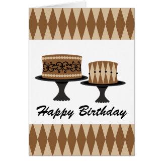 Tortas de chocolate decadentes tarjeta de felicitación