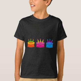 Tortas de cumpleaños vibrantes polera