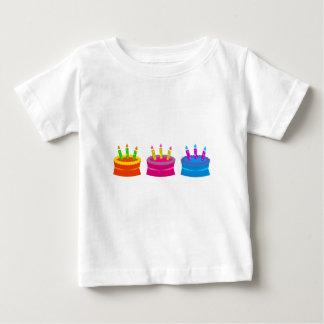 Tortas de cumpleaños vibrantes remera