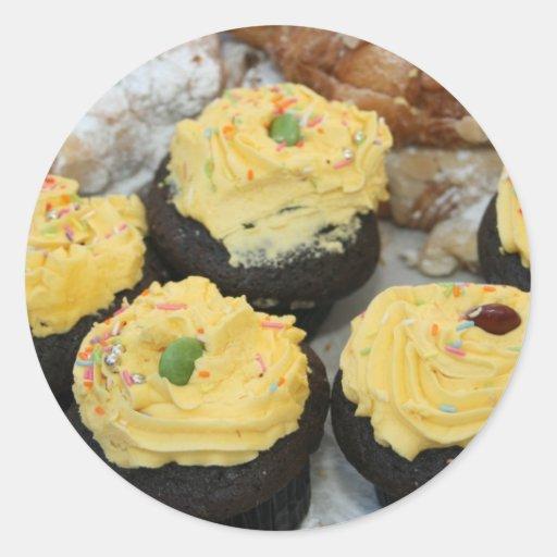 Tortas de hadas etiqueta redonda