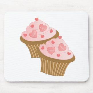 Tortas de la tarjeta del día de San Valentín dos Tapetes De Ratón