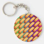 Tortas del arte pop del arco iris llaveros personalizados