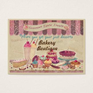 Tortas del boutique de la panadería y tarjeta de