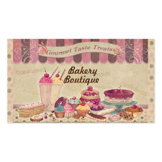 Tortas del boutique de la panadería y tarjeta de plantillas de tarjetas personales