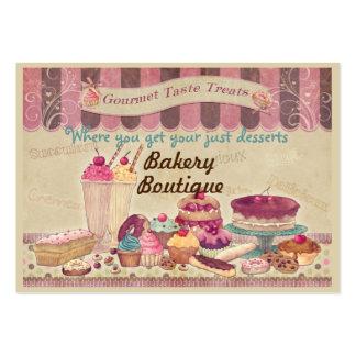 Tortas del boutique de la panadería y tarjeta de tarjetas de visita grandes