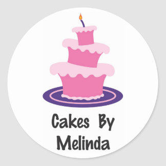 Tortas del pegatina de Melinda