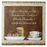 Tortas del postre del arte de la cocina de Java Azulejo Cuadrado Grande