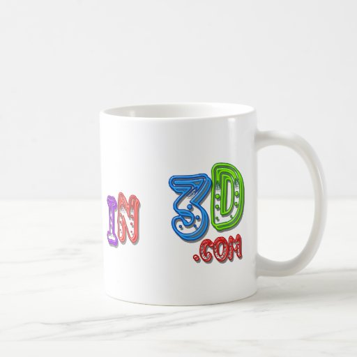 Tortas en 3D el logotipo 4 Tazas