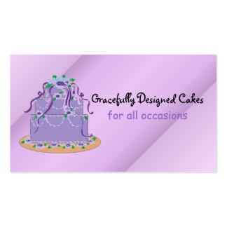 Tortas/hornada del diseñador tarjetas de visita