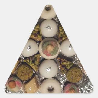 Tortas orientales pegatina triangular