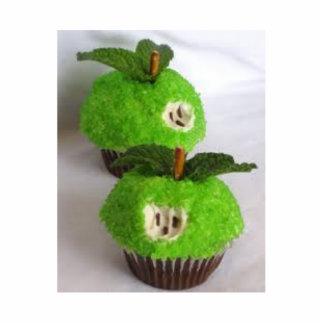 tortas verdes de la taza de la manzana fotoescultura vertical