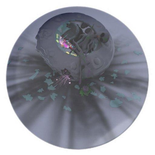 Tortazo del UFO abajo Platos De Comidas