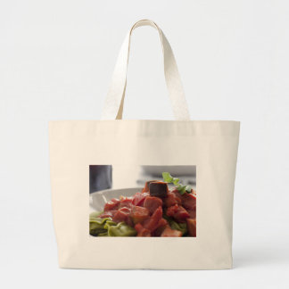 Tortellini with Sauce Large Tote Bag
